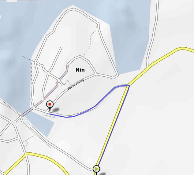 zadnji km Nin